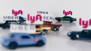 Picture of toy cars for blog about rideshare accident liability
