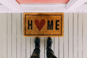 door mat for protect your home while traveling blog