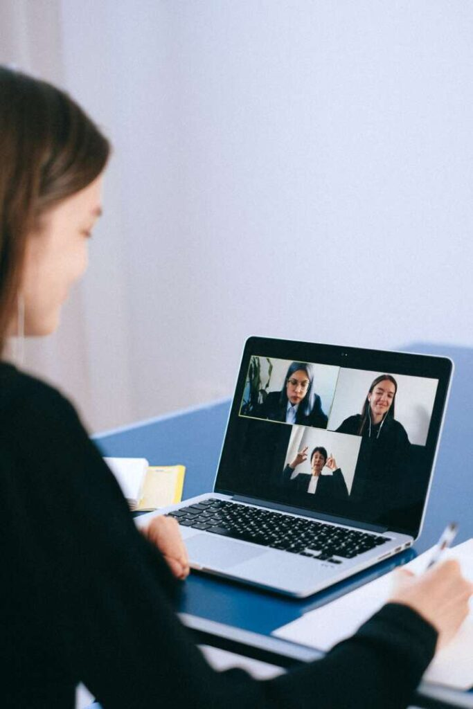 Image of a woman on a video chat for blog about how to have a successful virtual meeting